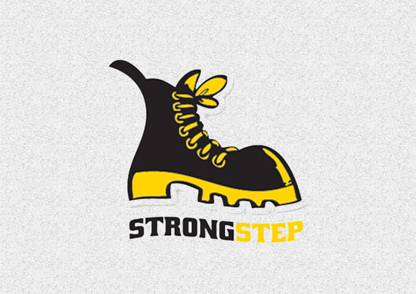 Strongstep Shoe Logo Design