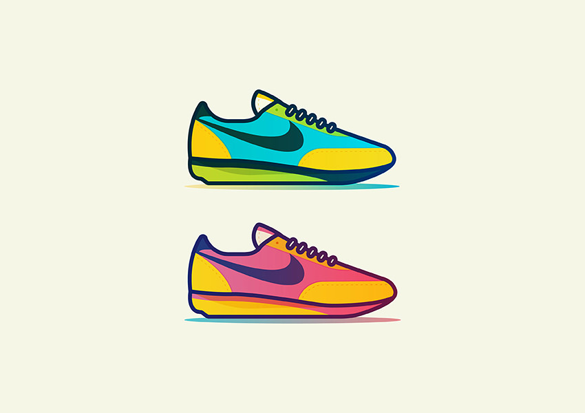 Vintage-Kicks-Shoe-Logo-Design
