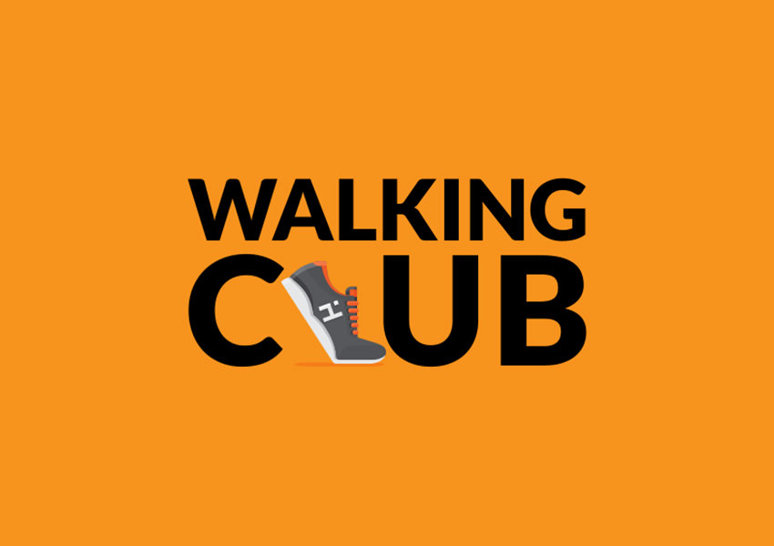 Walking-Club-Shoe-Logo-Design