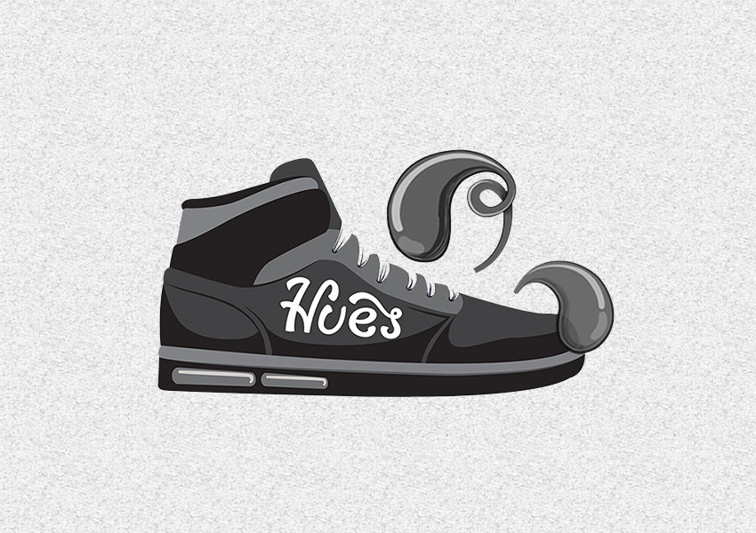 Hues-Shoe-Logo-Design