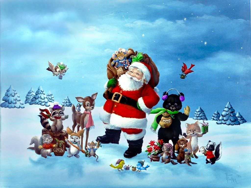 Santa Claus,Christmas Holiday Background