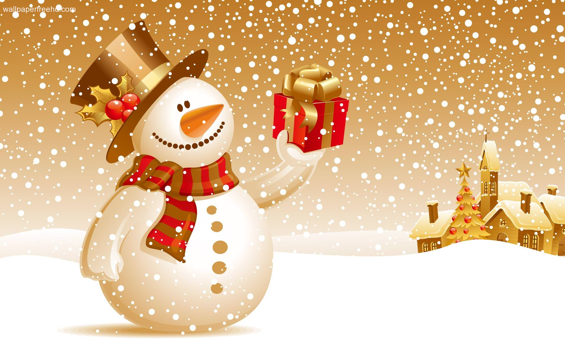 Snowman Holiday Wallpaper