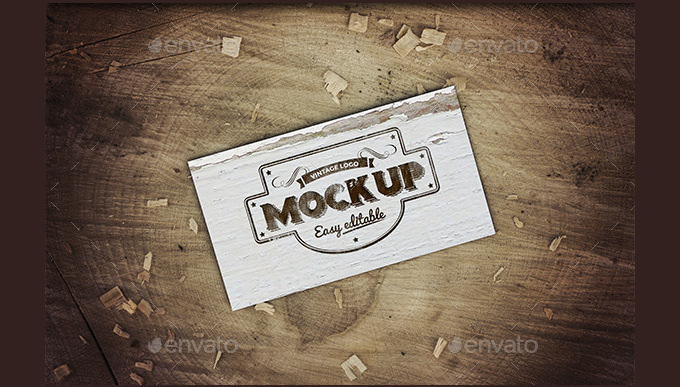 Custom Vintage Business Card Mockup