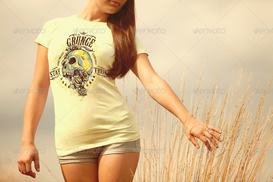 Female Tshirt Mockup Ideas