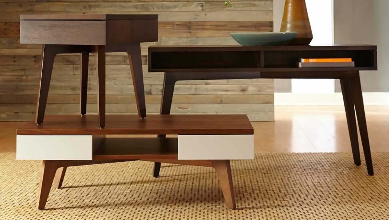 Modern wood table design - Brown Solid Wood Furniture