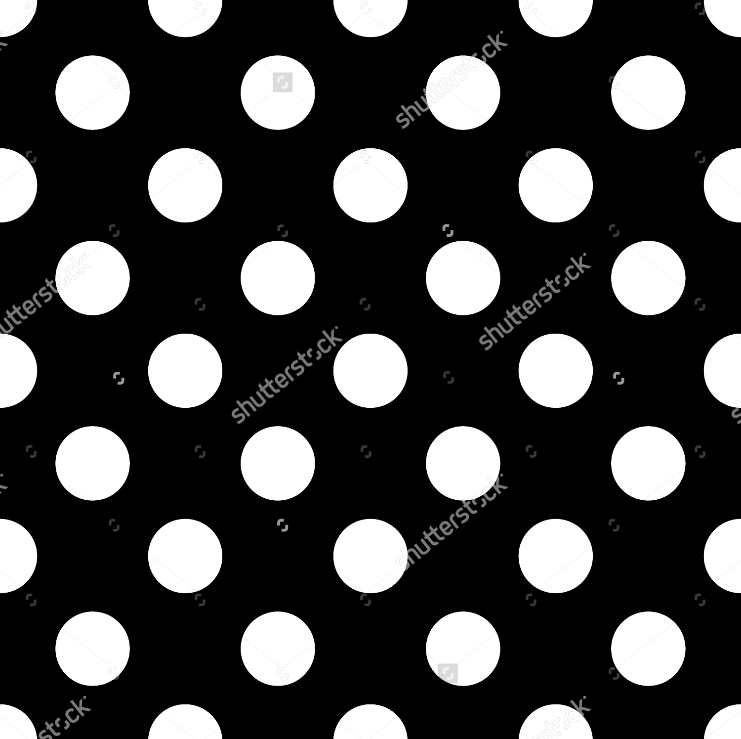 Polka Dot black and white background
