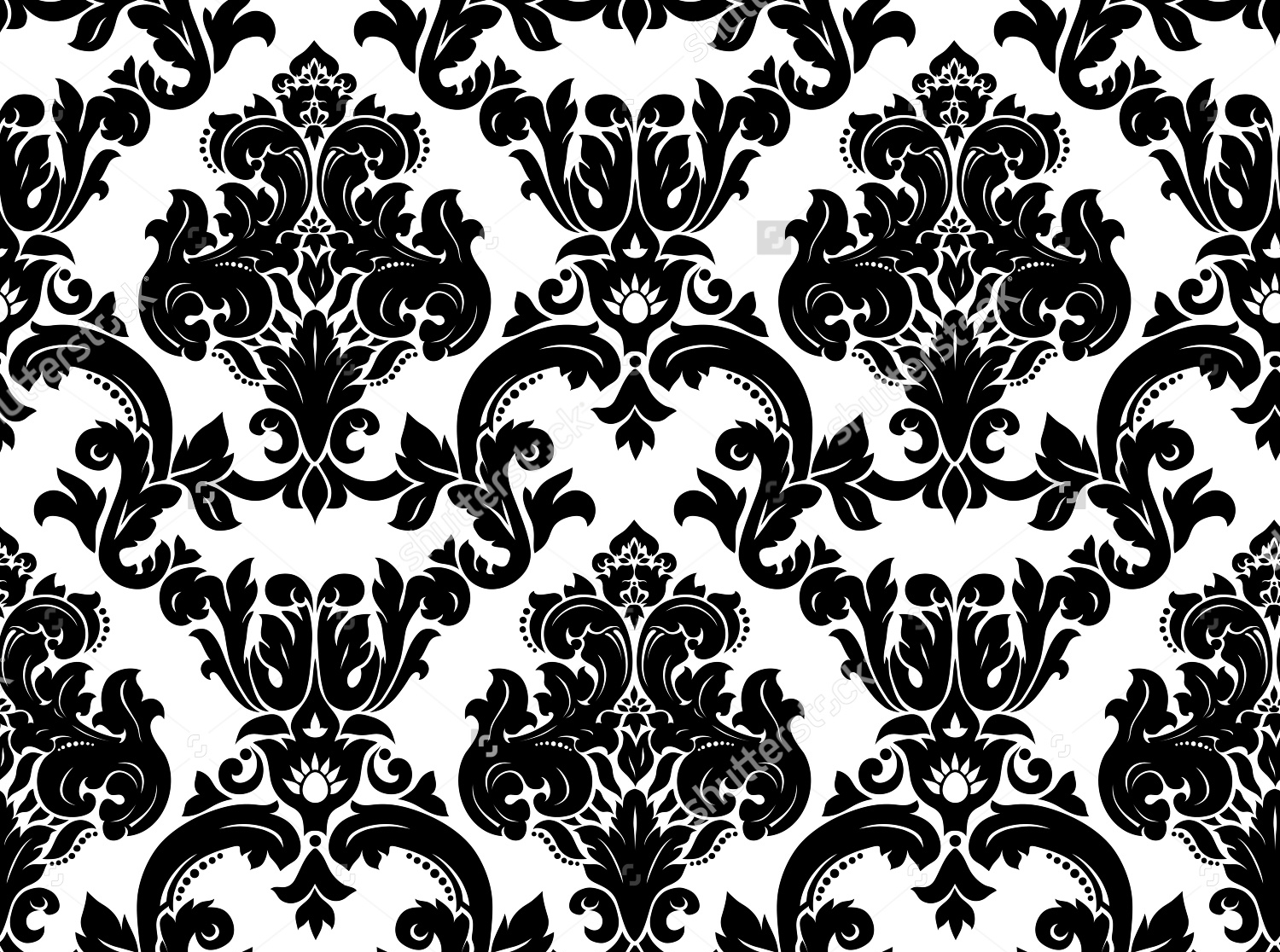 Black and White Damask background