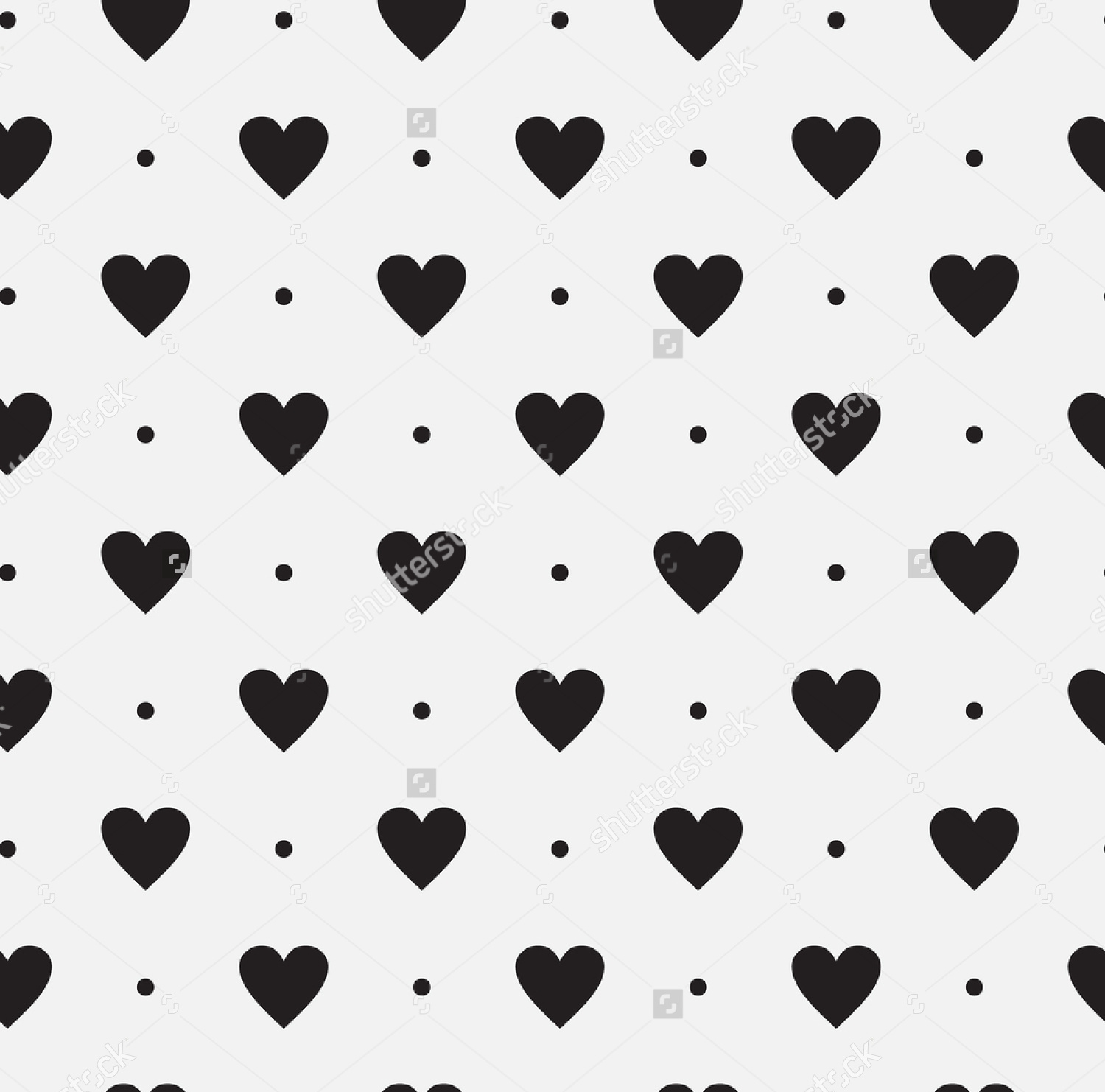 black and white heart pattern