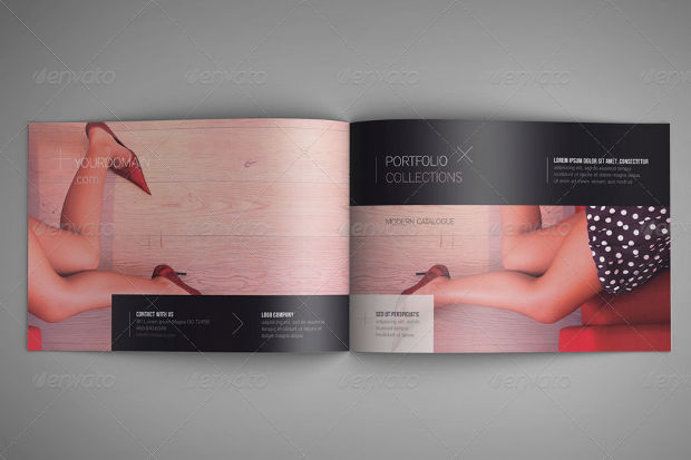 Creative A4 Landscape Brochure Mockup