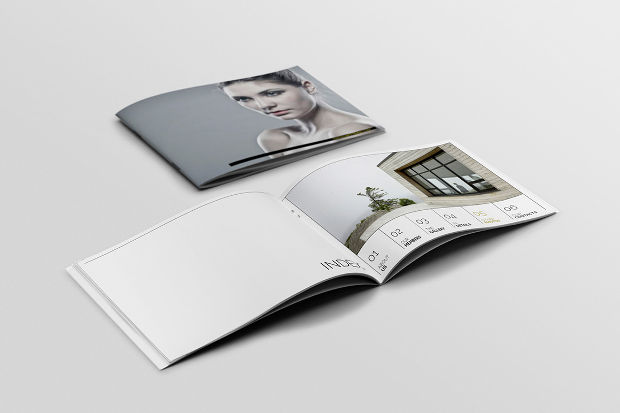 elegant a4 landscape brochure mockup