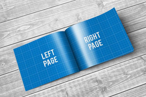 PSD A4 Landscape Brochure Mockup
