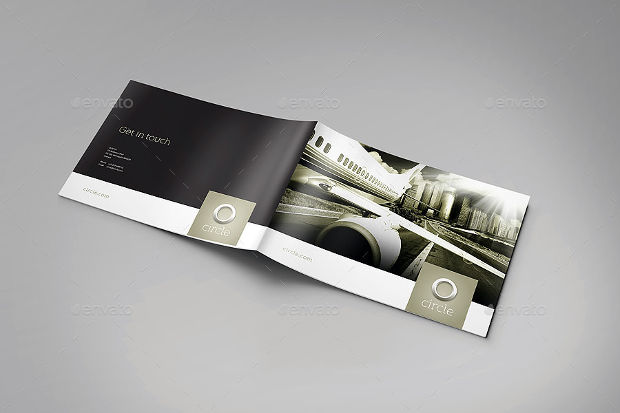 Printable A Landscape Brochure Mockups  Psd Download  Design