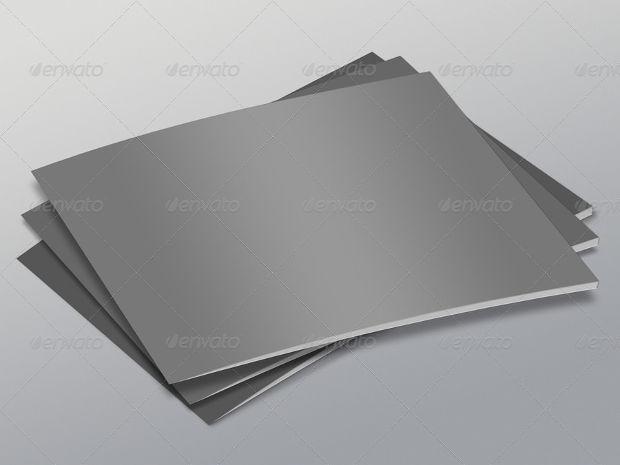 a4 landscape brochure layout mockup