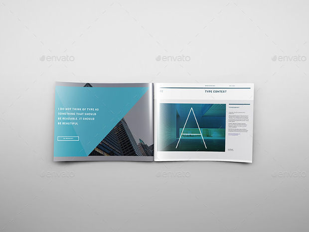 A4 Landscape Brochure Mockup Template