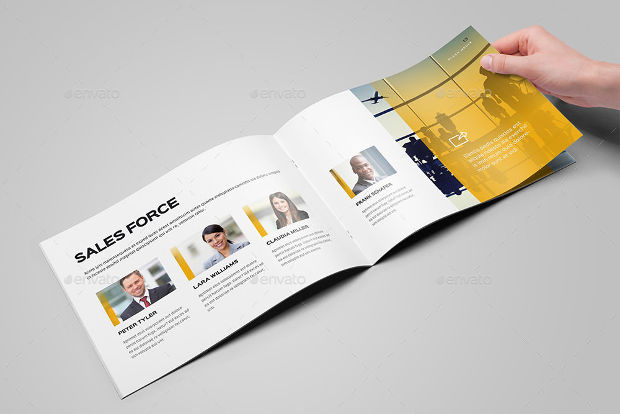 25 Printable A4 Landscape Brochure Mockups Psd Download Design