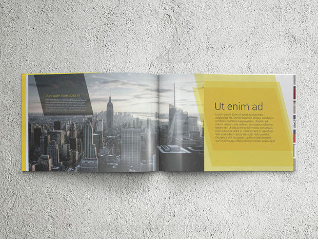 Landscape Real Estate A4 Brochure Mockup