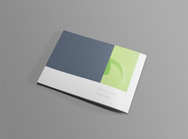 elegant landscape brochure mockup