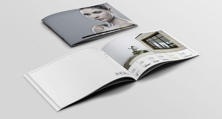 25 Printable A4 Landscape Brochure Mockups Psd Download