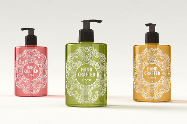 Cool Dispenser Bottles Mockup