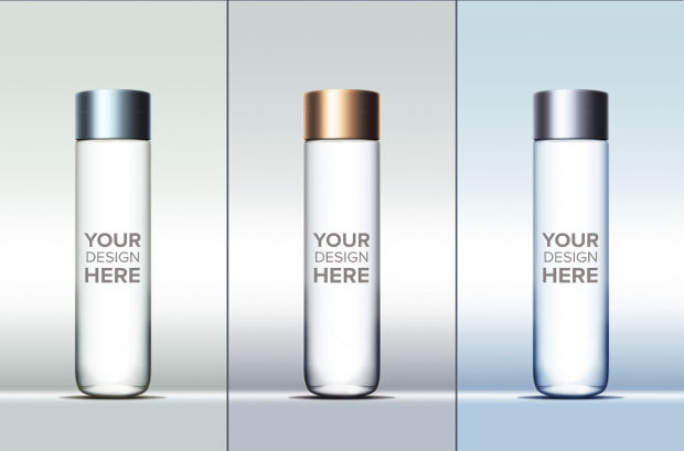 Cylinder Sample Bottle Mockup