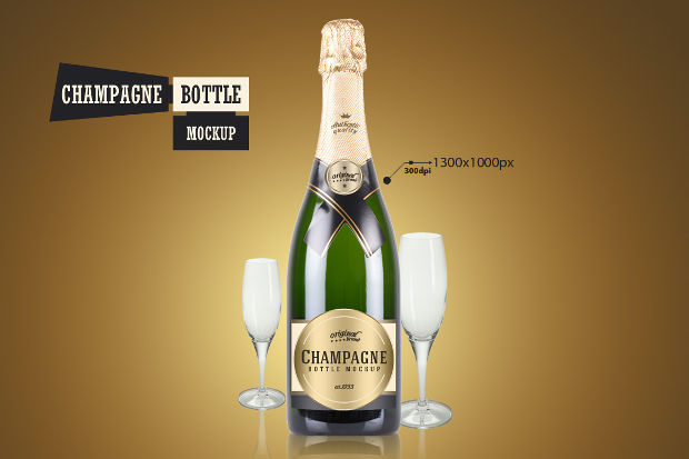 Champagne Bottle Mockup Ideas