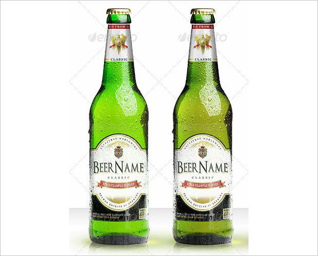 Classy Beer Bottle Mockup Design