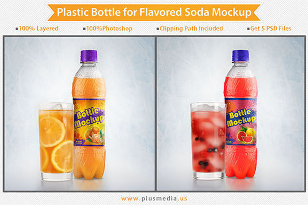 Soda Plastic Bottle Mockup Ideas