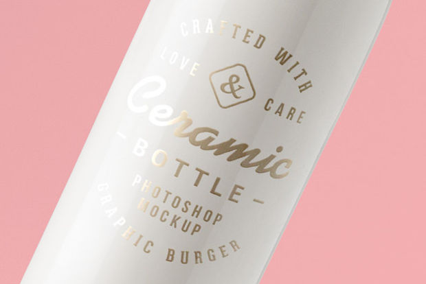 elegant bottle mockup