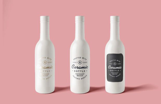 Ceramic Bottle Mockup