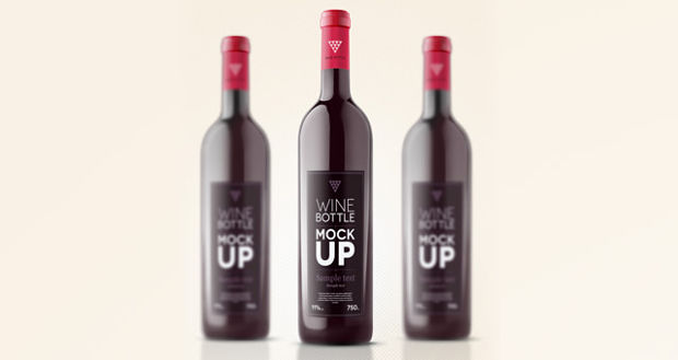 Psd Wine Bottle Mockup