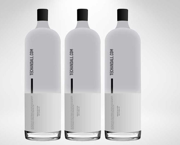 minimalistic water bottle mockup
