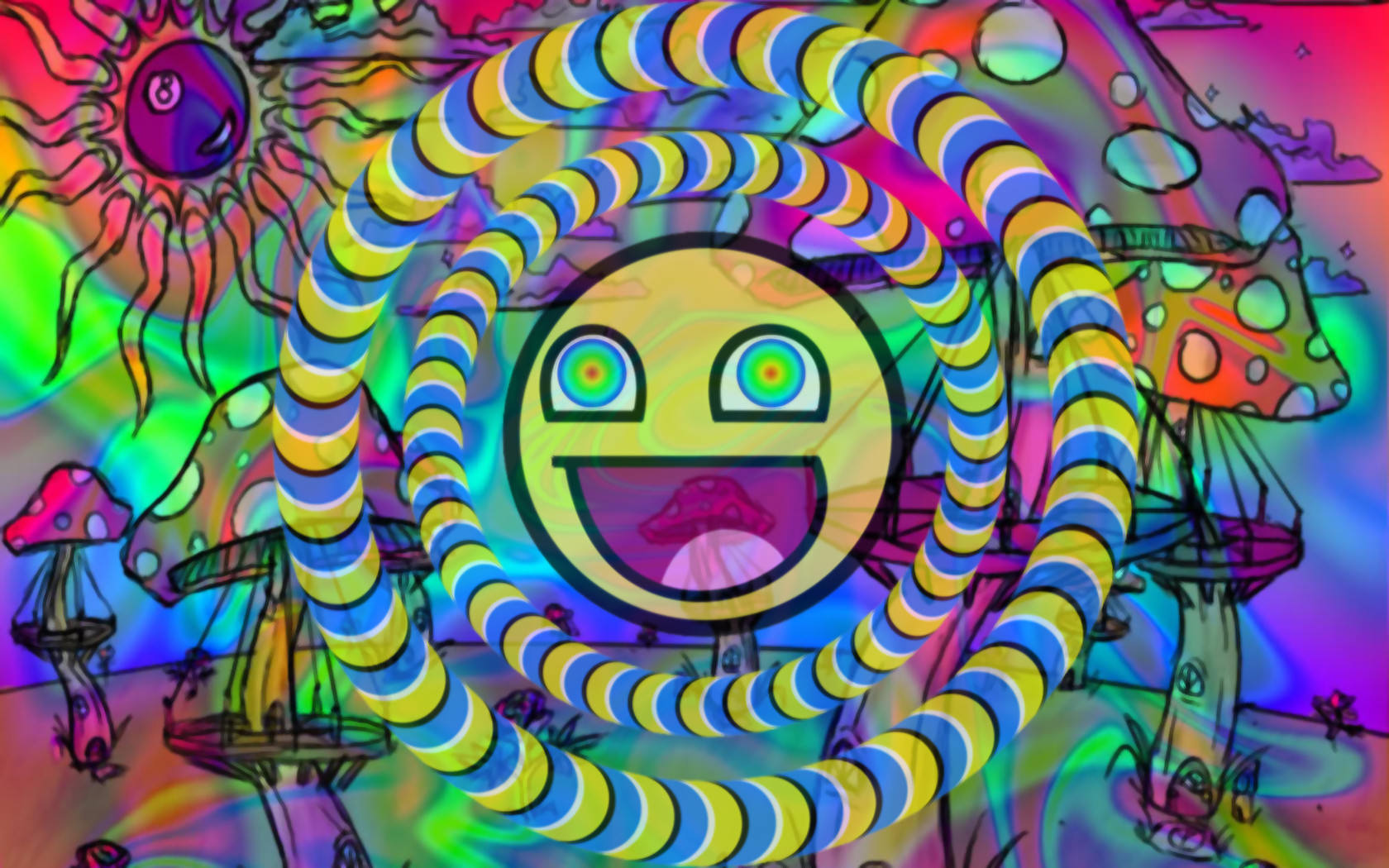 Funky Trippy Background