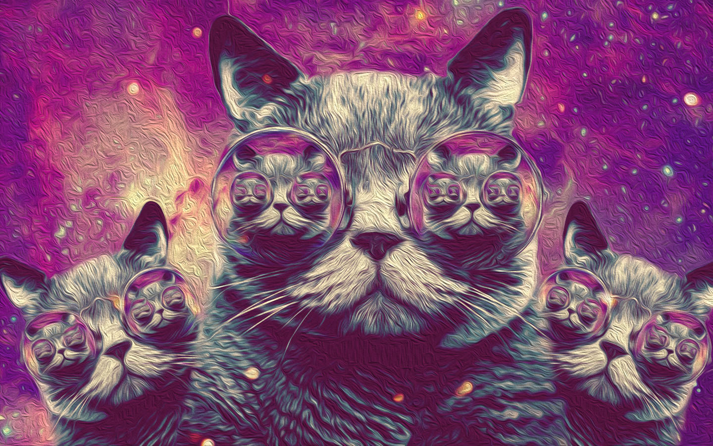Trippy Cat Background
