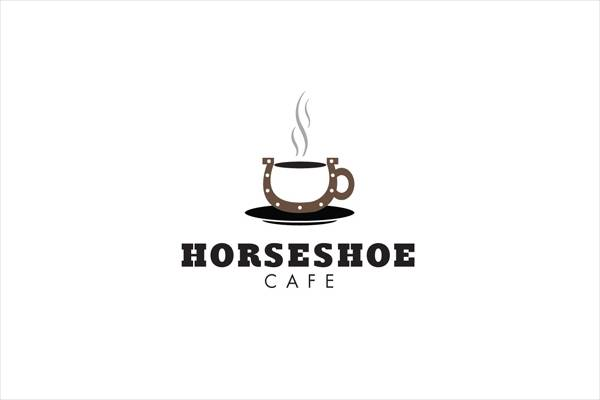 horseshoe cafe logo design