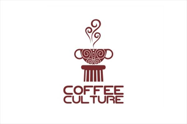 decorated coffee logo design