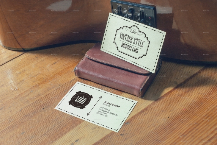 13 vintage business card mockups psd download design trends vintage style business card mockup colourmoves