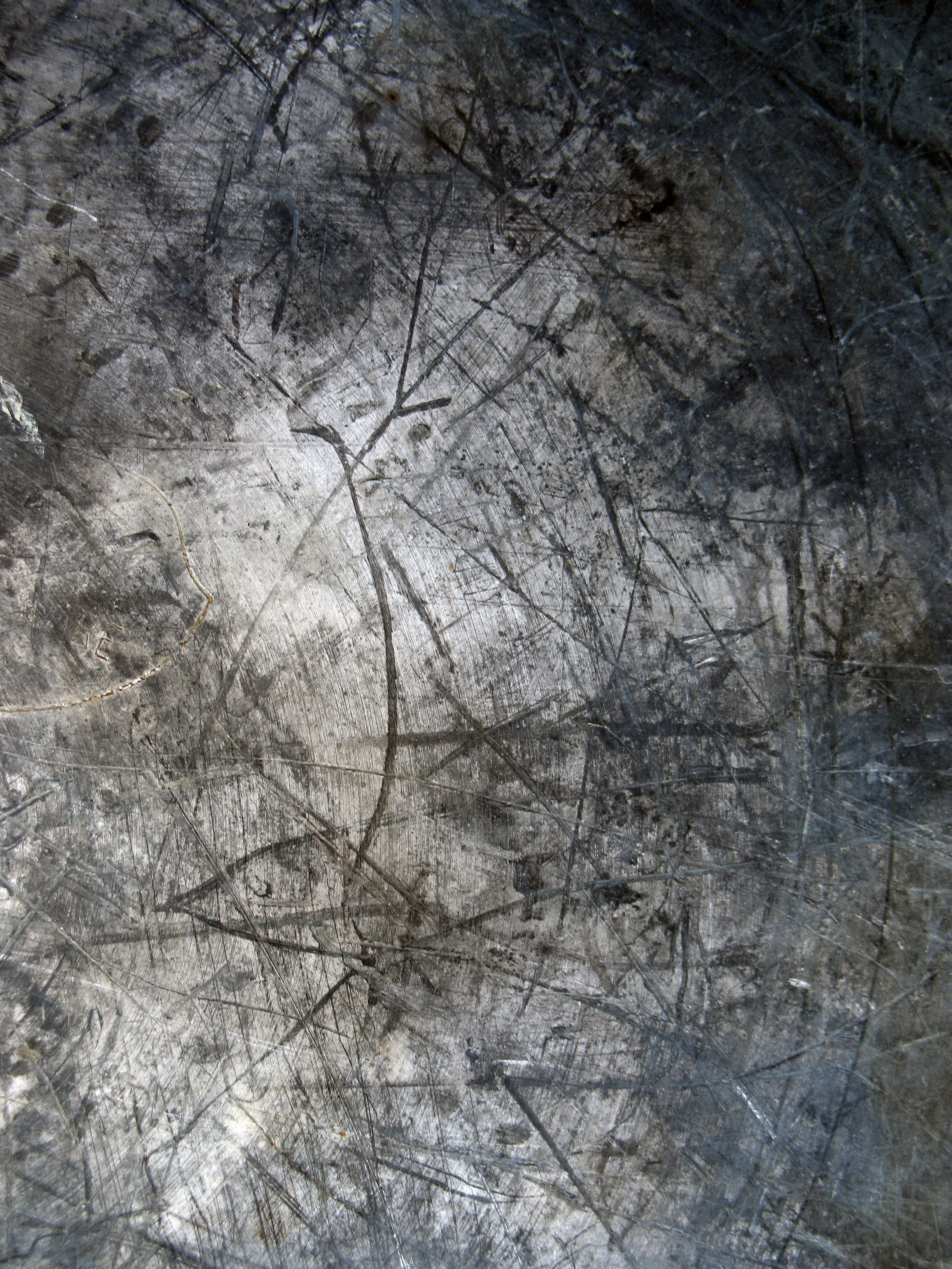 Scratched Black Metal Texture