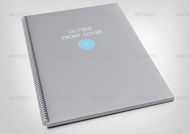 Smart Spiral Notebook Mock-up