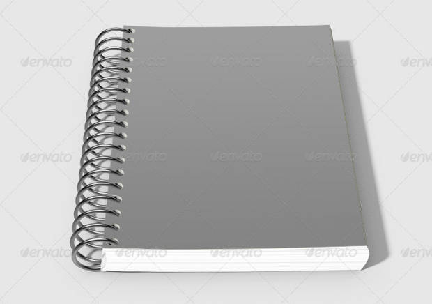 Realistic Spiral Notebook Mock-up