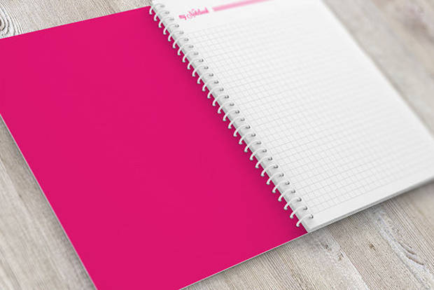 Open Spiral Notebook Mock-up