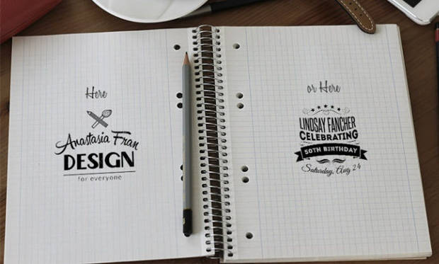 Simple Spiral Notebook Mock-up