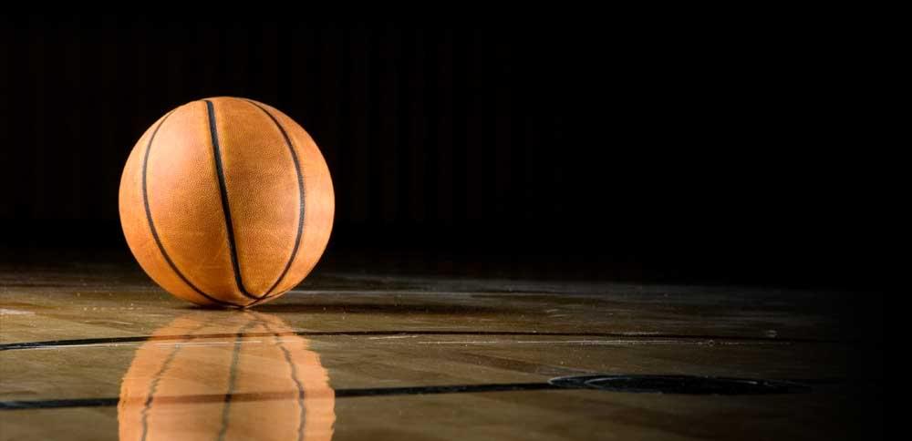 Orange Basketball Background