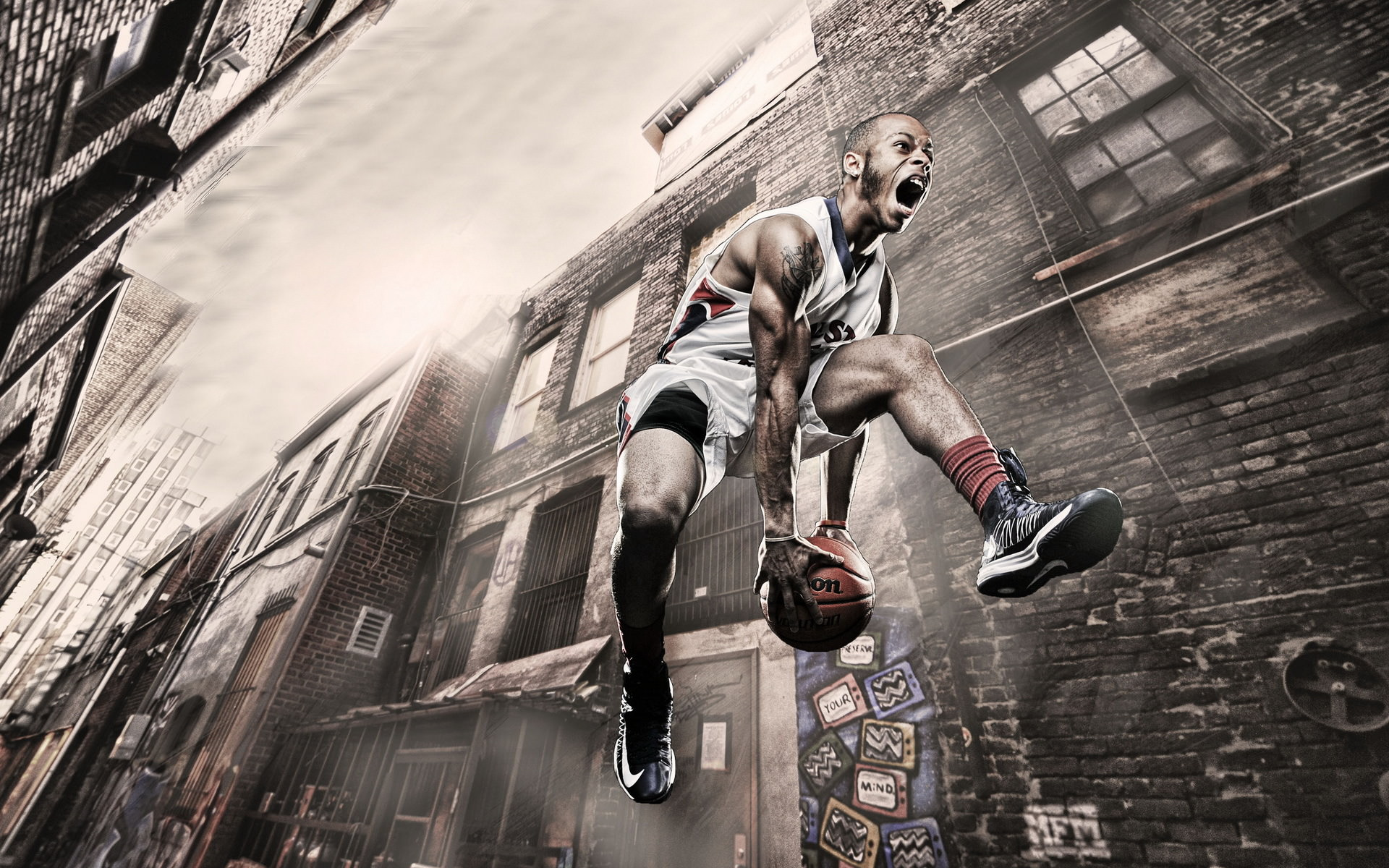 Street Basketball Background