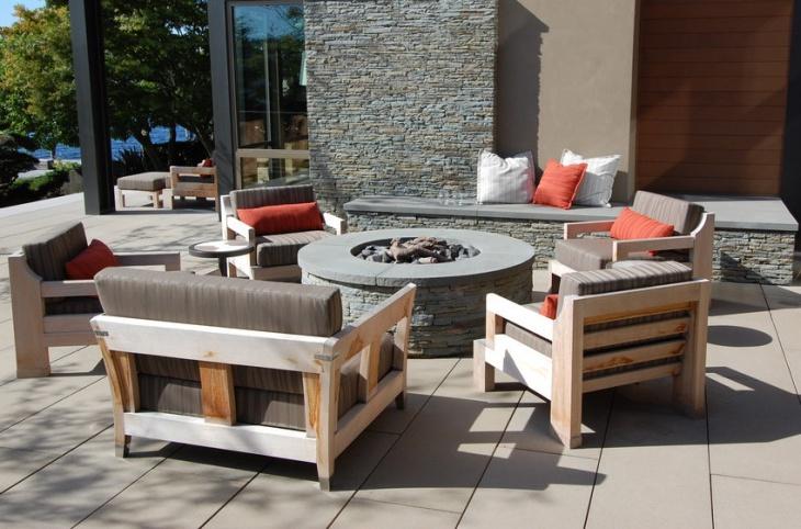 outdoor stone firepit design