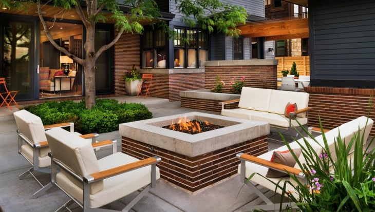 Contemporary Outdoor Fire Pit Idea