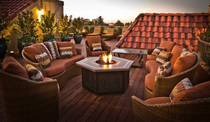 Outdoor Deck Fire Pit Design
