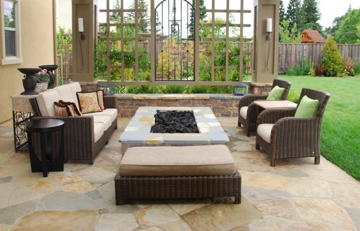 Rectangle Shape Outdoor Fire Pit