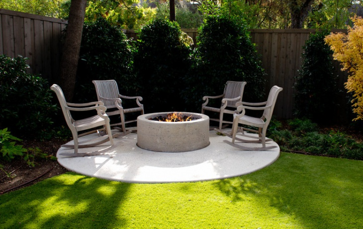 Concrete Outdoor Fire Pit Design
