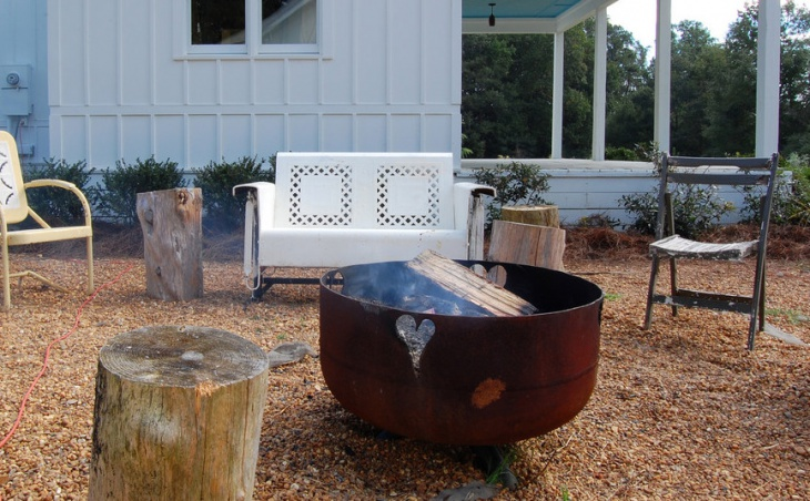 Outdoor Vintage Fire Pit Design