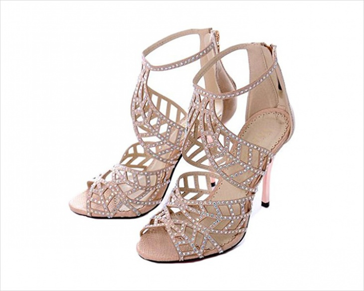 high heel evening shoes design